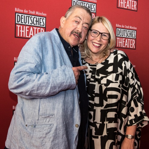 Schauspieler Joseph Hannesschläger mit Ehefrau Bettina