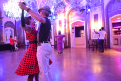 Die Tanzfläche im Silbersaal