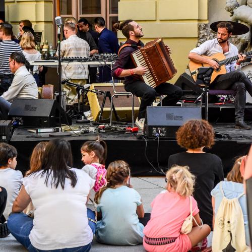 Das Gypsyjazz Quartett Lyckliga sorgte für gemütliche Stimmung