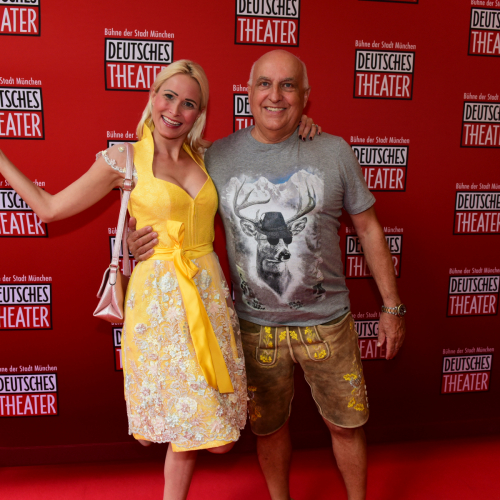 Axel Munz (Trachten Angermaier) mit Freundin Yve